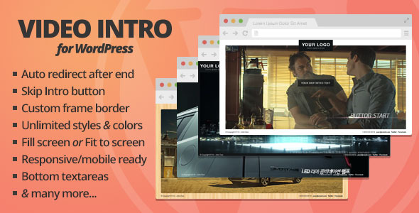 Video Intro for WordPress v1.1.3 is a plugin that allows you to add video presentation before your visitors get into the main content of your website. Online Do