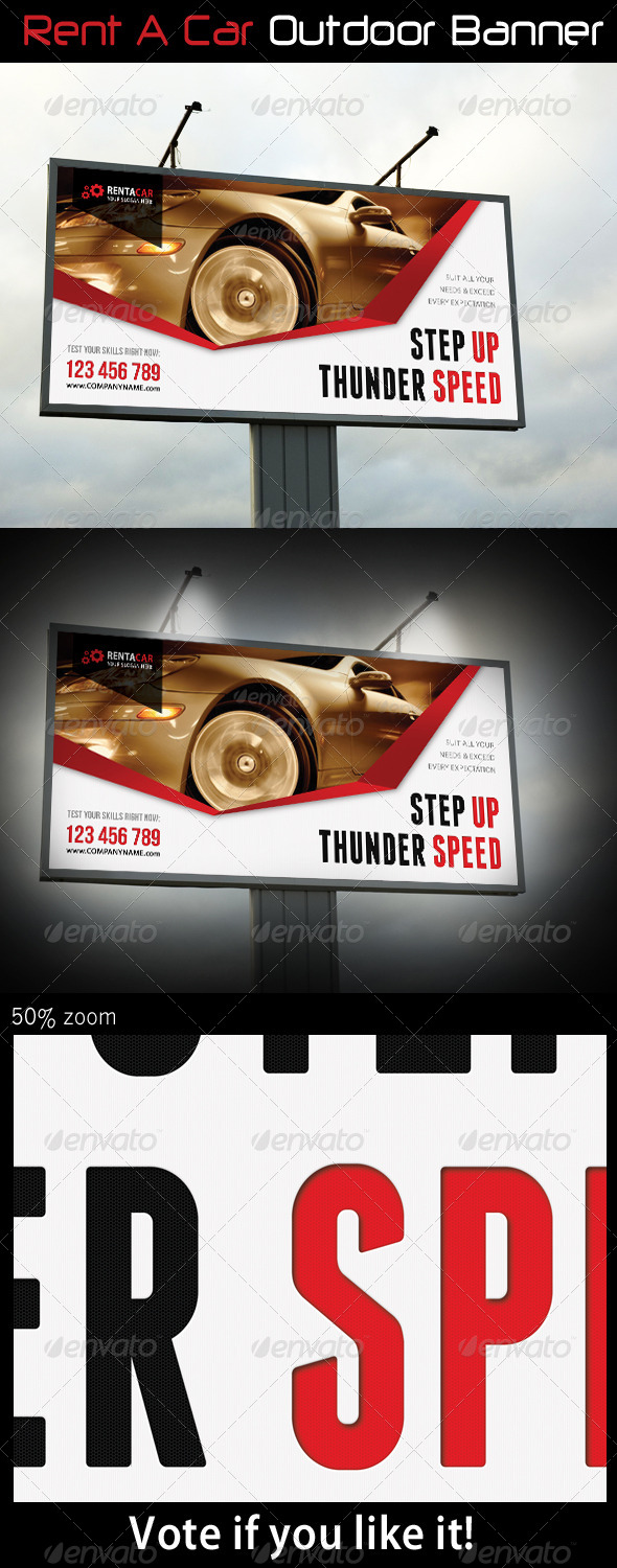 GraphicRiver Rent A Car Outdoor Banner 07 7005905