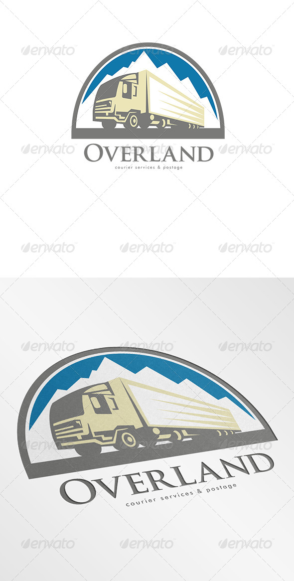 GraphicRiver Overland Courier Services Logo 7005914