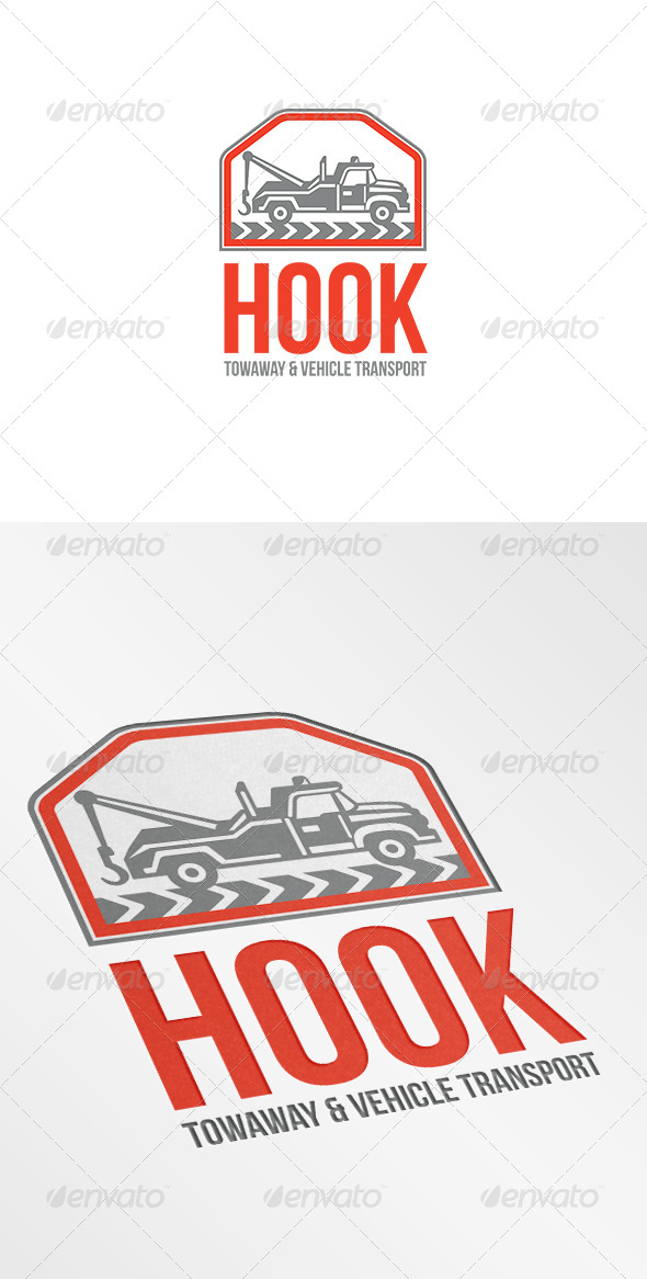 GraphicRiver Hook Towaway and Vehicle Transport Logo 7005921