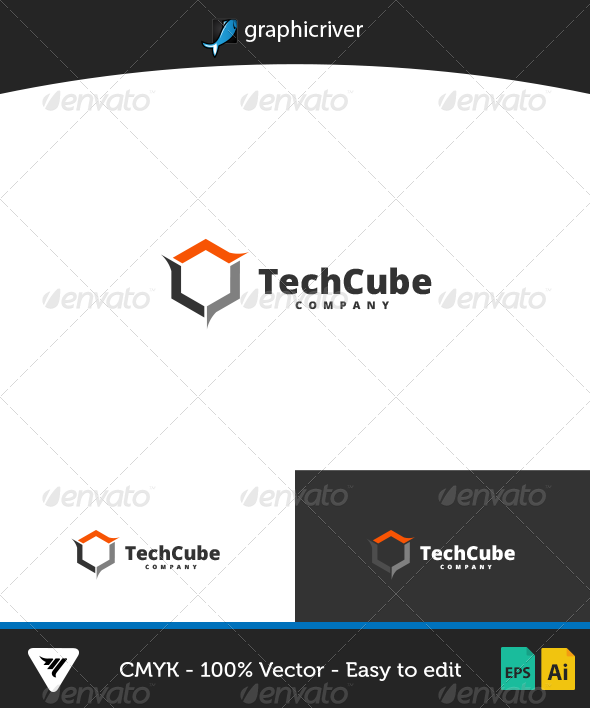 GraphicRiver TechCube Logo 7006004