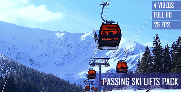 Passing Ski Lifts 4-Pack