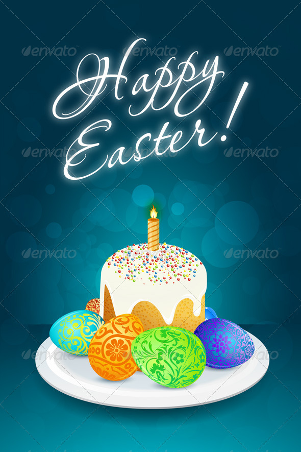 GraphicRiver Easter Card 7006254