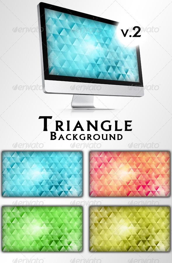 GraphicRiver Triangle Backgrounds v2 7006267