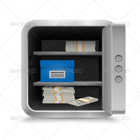 GraphicRiver Safe with Money 7006271