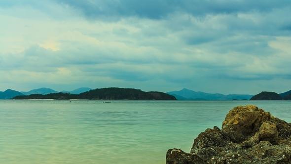 Beach and Clouds at Coron Palawan
