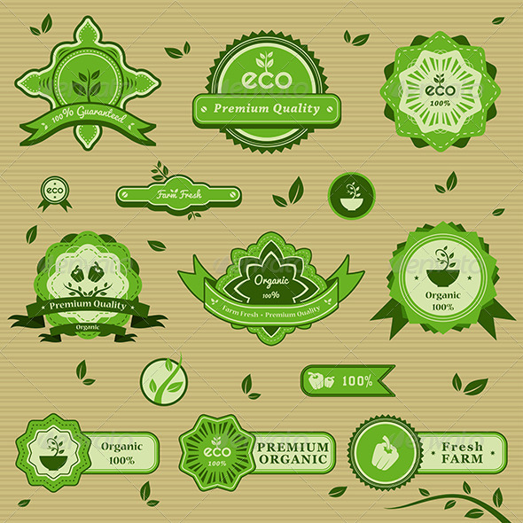 GraphicRiver Organic Labels 6984866