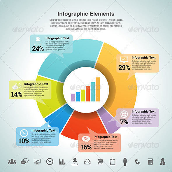 GraphicRiver Pie Percentage Infographic Element 7006487