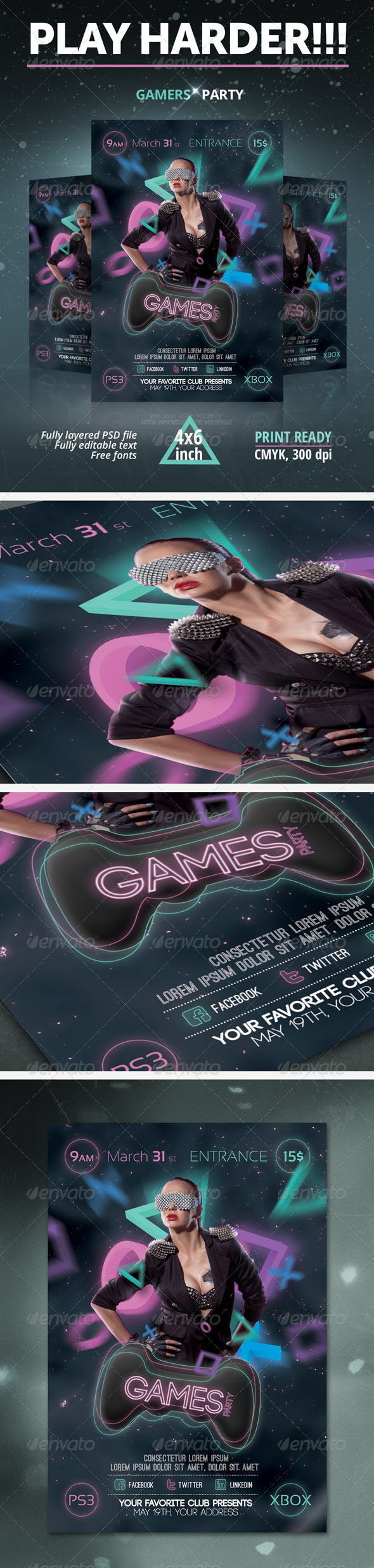 GraphicRiver Games Party Flyer 6984468