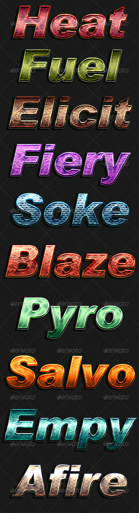 Heat Style - Text Effects Actions