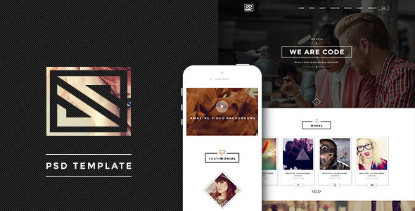 ThemeForest Vastudio Creative One Page PSD Template 7006938