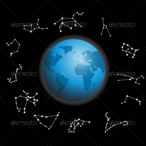GraphicRiver Constellations around the Globe 7007056