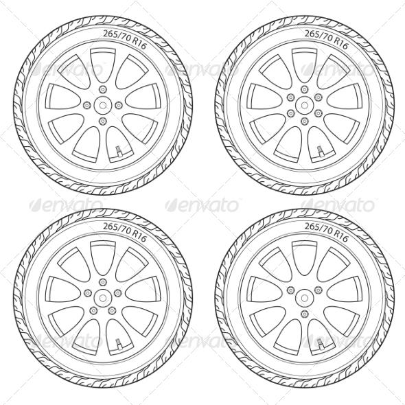 GraphicRiver Car Wheel 7007079