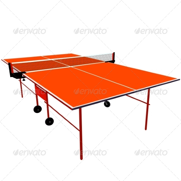 GraphicRiver Orange Ping Pong Table 7007193