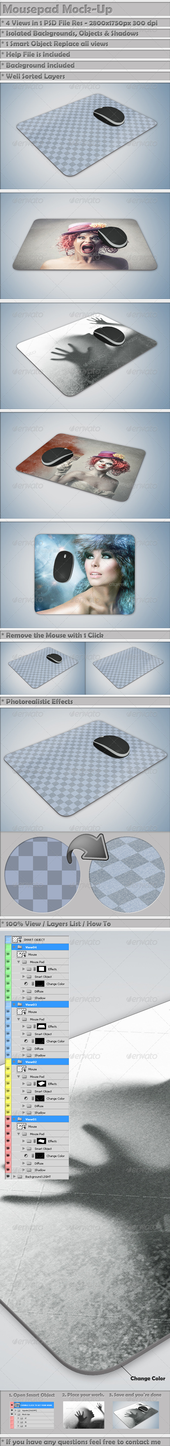 Mousepad Mockup - Miscellaneous Product Mock-Ups