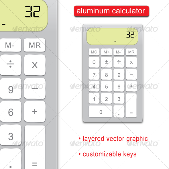 Aluminum Calculator (vector) - Business Conceptual