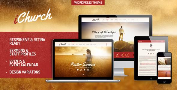 ThemeForest iChurch Responsive Church Wordpress Theme 6965001