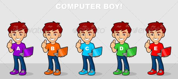 GraphicRiver Computer Boy 6990456