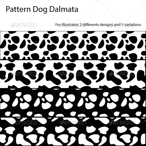 GraphicRiver Seamless Pattern Dog Dalmatian 7008107