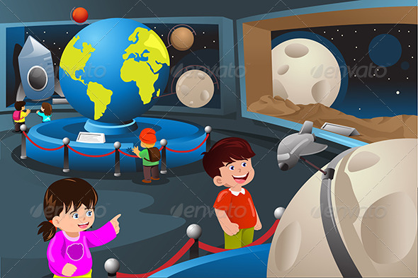 GraphicRiver Kids on a Field Trip to a Planetarium 7008137
