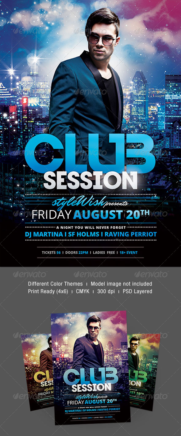 Club Session Flyer - Clubs & Parties Events