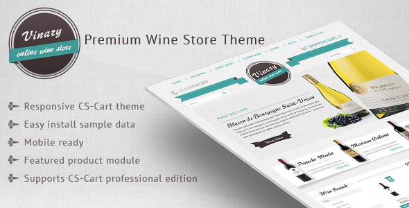 Vinary – Premium Wine store theme - CS-Cart eCommerce