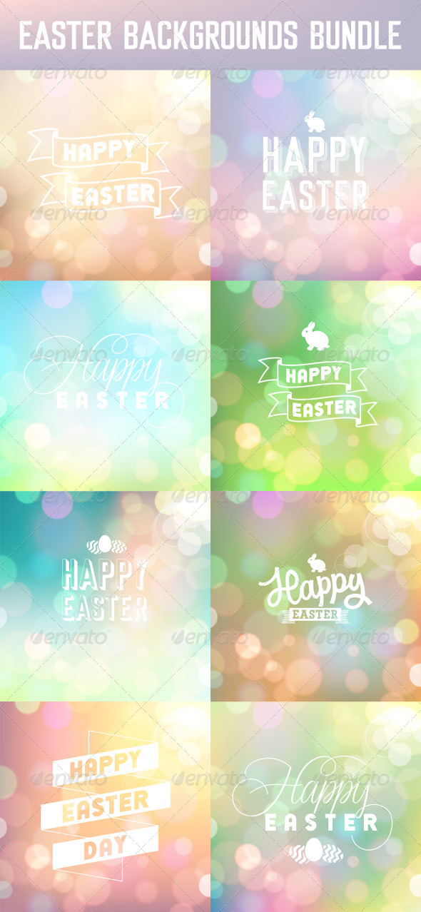 GraphicRiver Easter Backgrounds Set 7008436