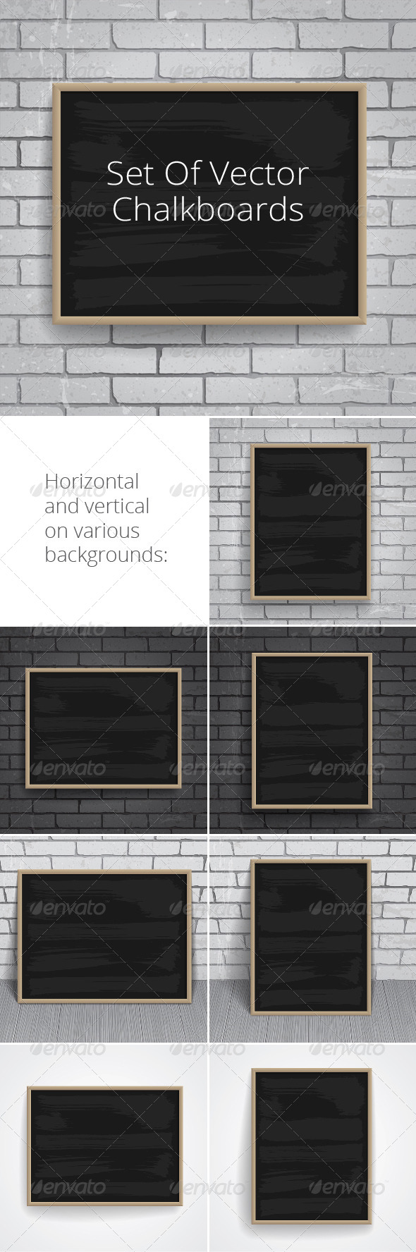 GraphicRiver Black Chalkboards Pack 7008475