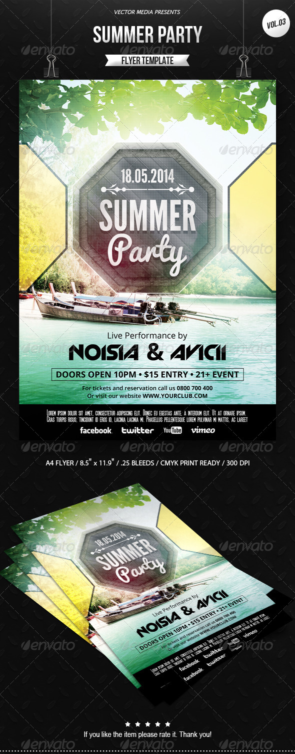 GraphicRiver Summer Party Flyer [Vol.3] 6984756