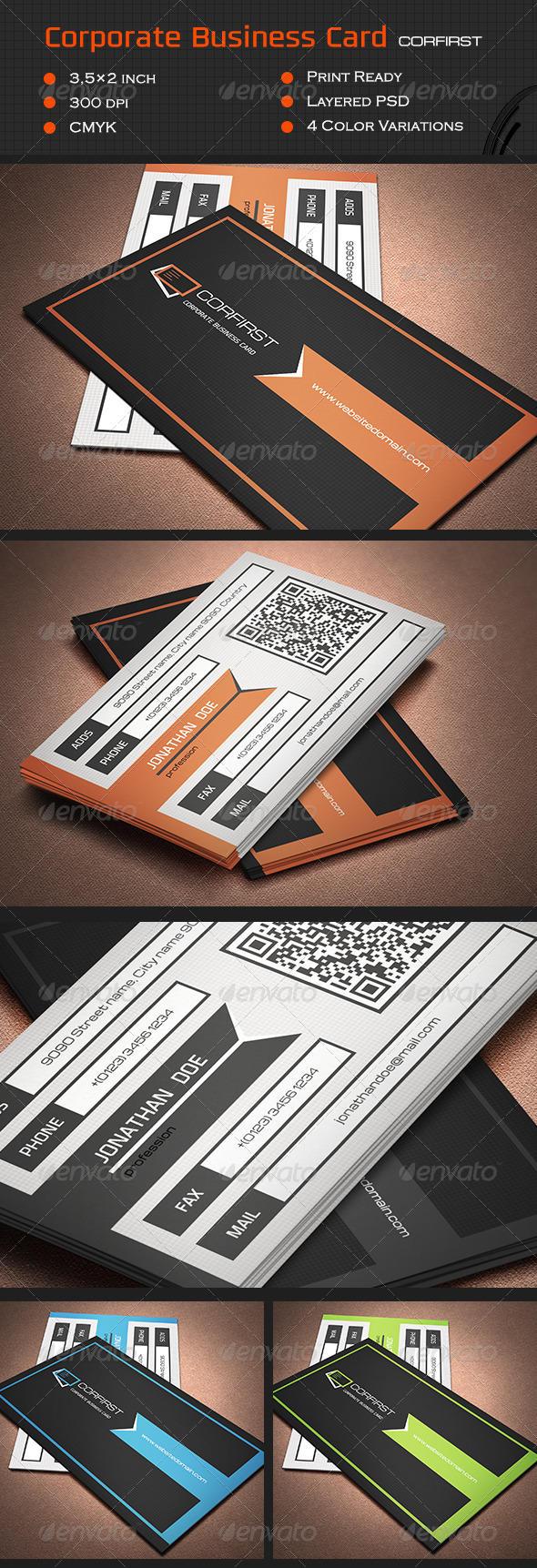 GraphicRiver Corporate Business Card Cor1 6964954