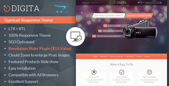 ThemeForest Digita Opencart Multipurpose Theme 7008797