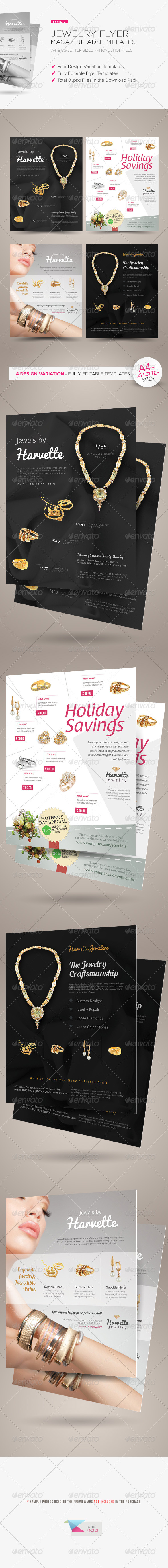 GraphicRiver Jewelry Flyer or Magazine Ad Templates 7008886