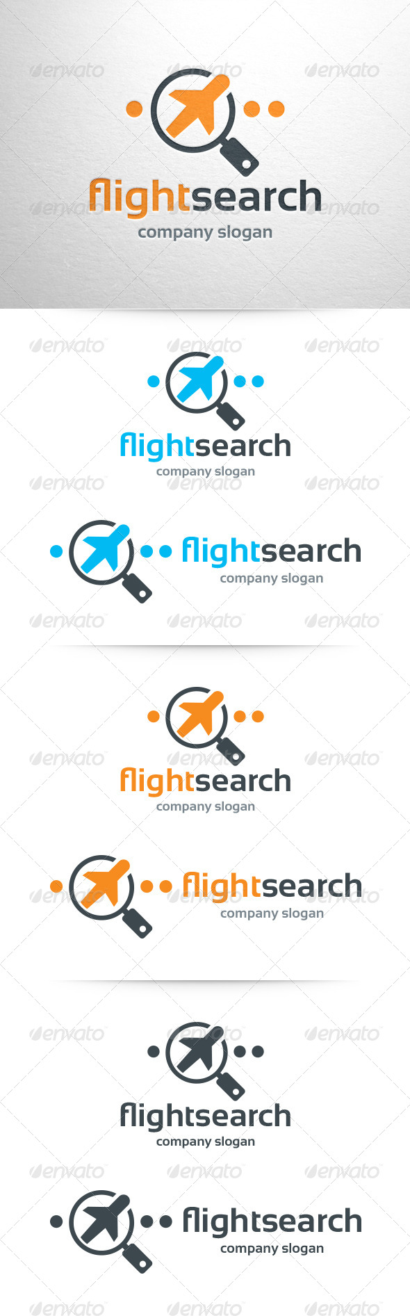 GraphicRiver Flight Search Logo Template 7008889