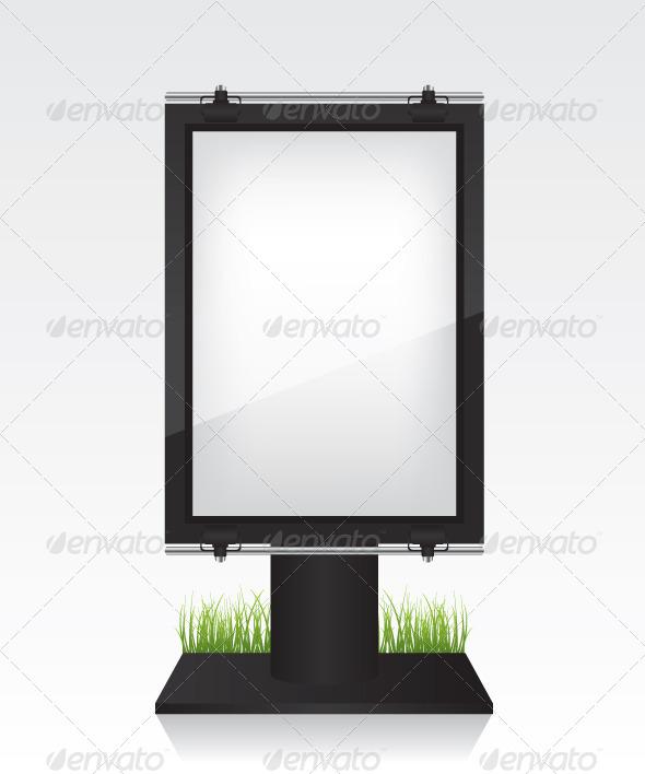 GraphicRiver City Light Black Billboard 7008994