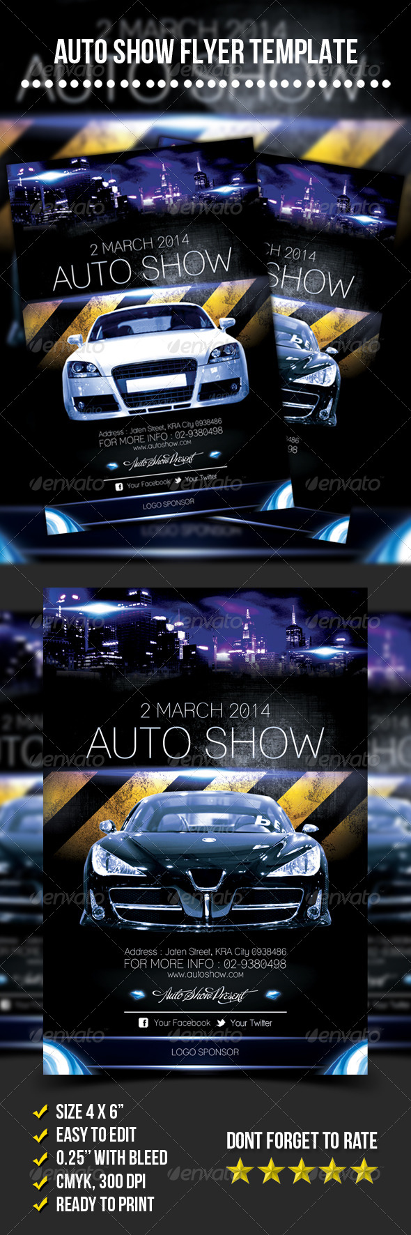 GraphicRiver Auto Show Flyer 7009089