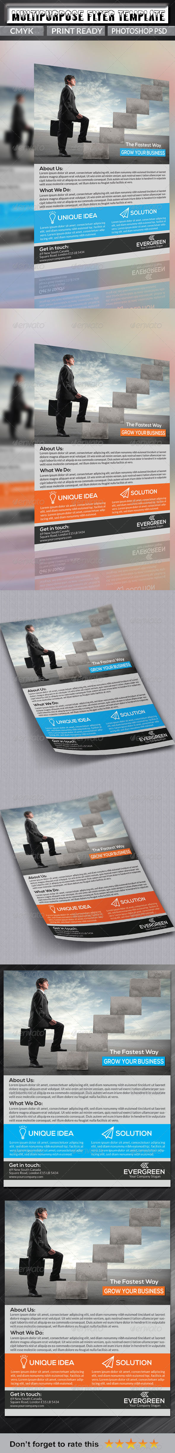 GraphicRiver Multipurpose Business Flyer Template 7003553