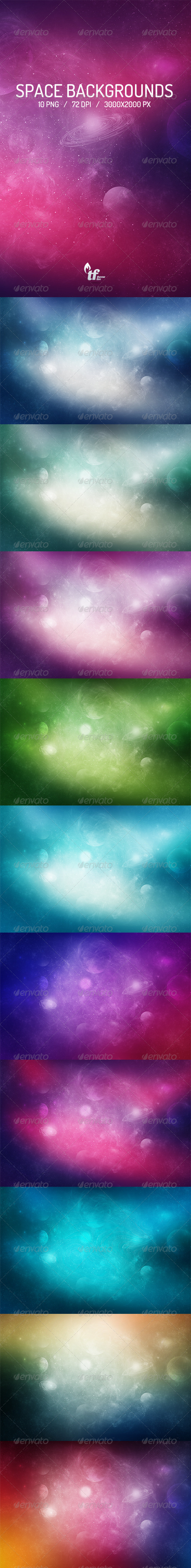 GraphicRiver Space Backgrounds 7009242