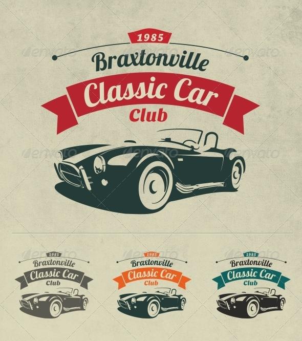 GraphicRiver Classic Car Club Logo 6990266