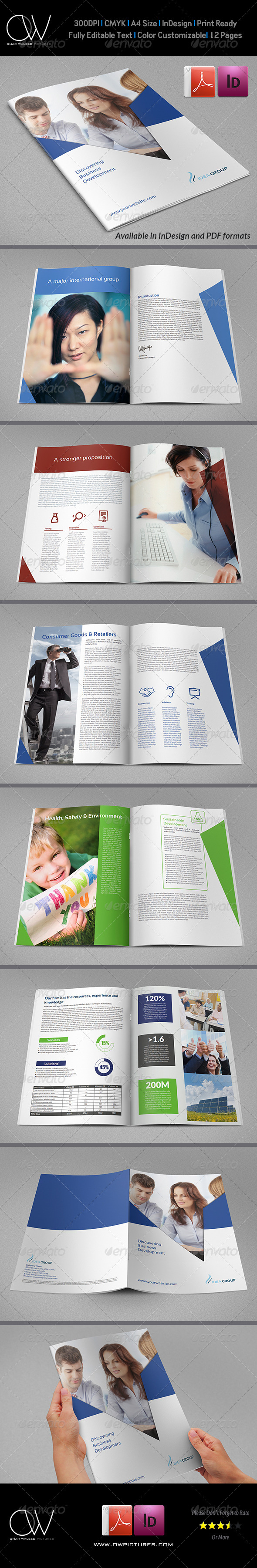GraphicRiver Corporate Brochure Template Vol.29 12 Pages 7009477