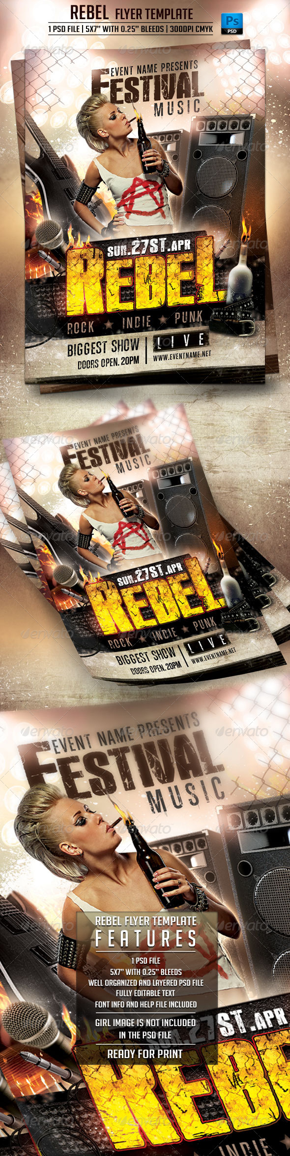 Rebel Flyer Template