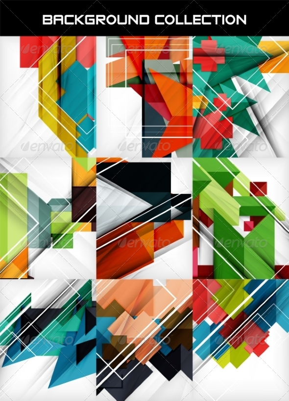 GraphicRiver Geometric Abstract Backgrounds 7009555