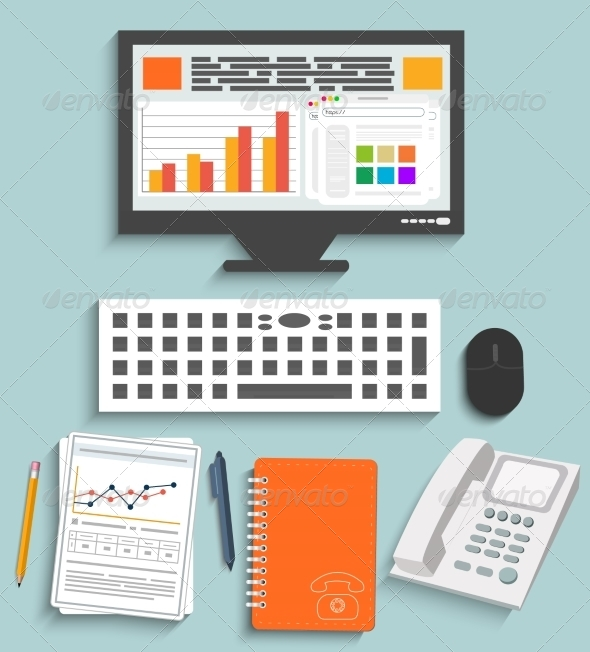 GraphicRiver Business Work Elements 7009556