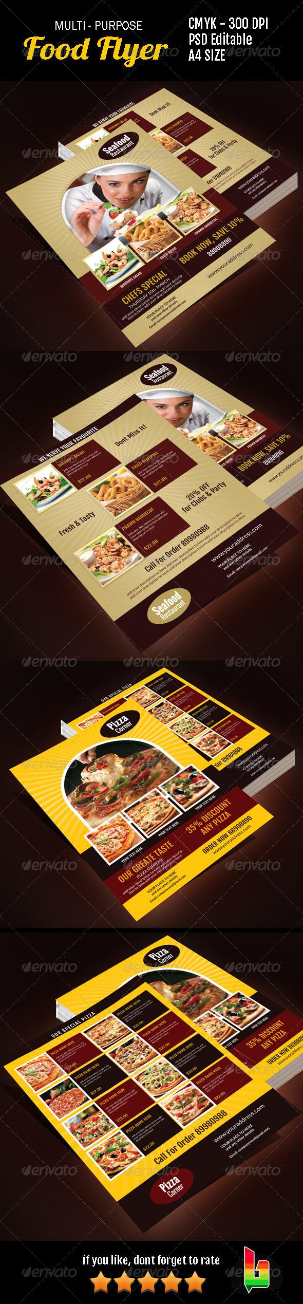 GraphicRiver Multi Purpose Food Flyer 7009557