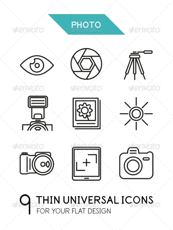 GraphicRiver Collection of Photo Icons 7009642