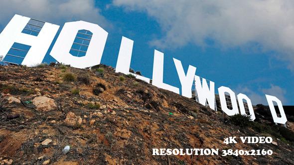 Hollywood Sign Los Angeles Close Shot 1
