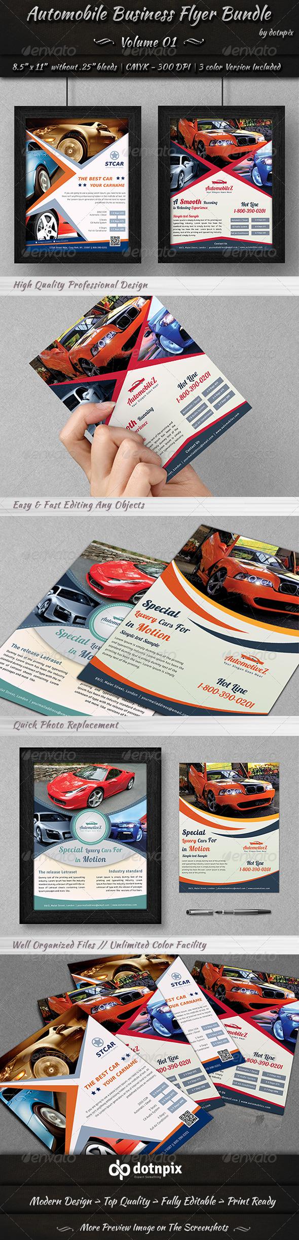 GraphicRiver Automobile Business Flyer Bundle Volume 1 7009900