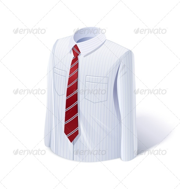 GraphicRiver White Shirt with Tie 7010239
