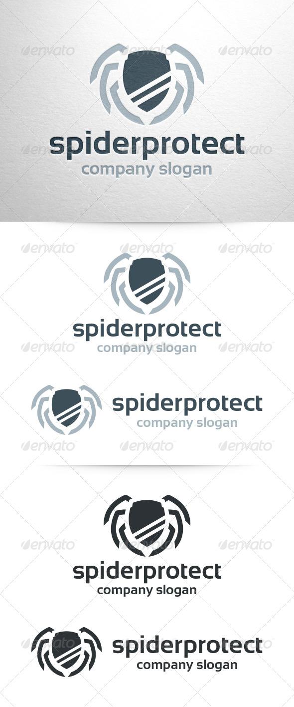 GraphicRiver Spider Protect Logo Template 7010241