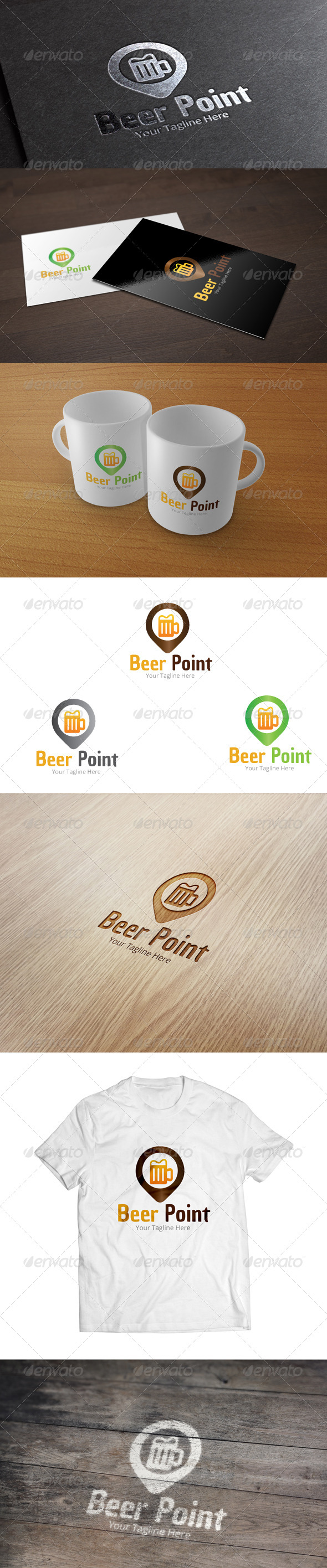 GraphicRiver Beer Point Logo Template 7010243