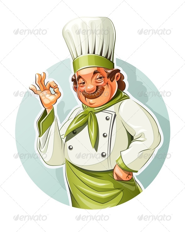 GraphicRiver Smiling Cook Shows Okay 7010287